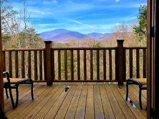 *WiFi* New Cabin w/ Mtn Views, Dogs OK!
