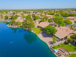 Waterfront Vacation Lake Home in the Desert, with Modern Amenities