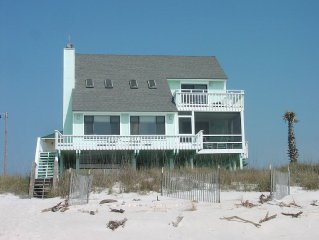 GULF FRONT 2 bedroom home with a loft.