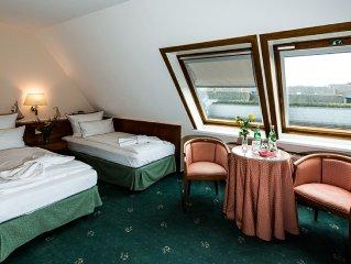 Zweibettzimmer, Landseite - Haus Meeresblick