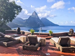 Owner Listing: Caille Blanc Villa - the Ultimate in St. Lucia Luxury -Piton View