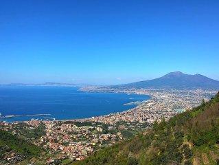 Casa immersa nel verde con bellissima vista panoramica del Golfo di Napoli