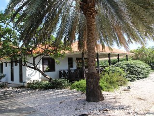 Spacious villa at 75m / 225 feet from the most beautiful beach at Curacao.
