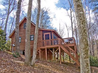 Log Cabin - Hike to New River - Hot Tub - Wi-Fi - Screen Porch - Sleeps 6