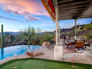 Cave Creek Estate- Infinity pool with stunning views of the desert!