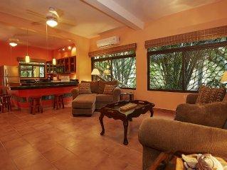 Villa Las Palmas Tropical Rental Beside The Ocean- WiFi - Water Tank - Porch