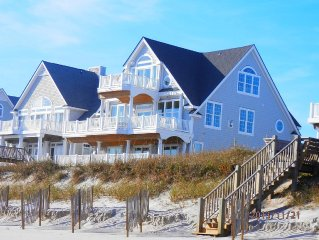 N. Topsail Family-Oriented Beachfront Home Within Walking Distance to Pool