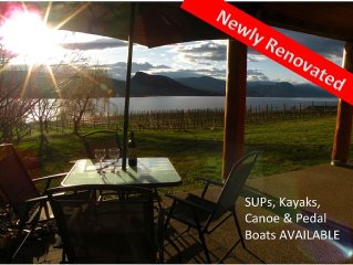 Beautiful lakefront vineyard in the heart of wine country, 2BR suite, sleeps 8+