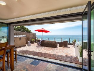 Oceanfront rental with 7br, 5ba, private spa, patio, endless ocean views AC