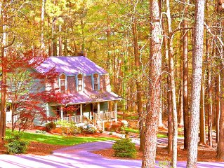 Cozy 3 Bedroom 2.5 Bath on Private 1 Acre Wooded Lot