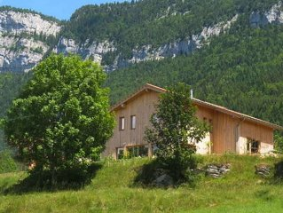 New Ecogite for 5 / 7personnes with traditional sauna in the Vercors