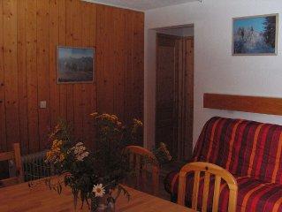 3 pieces( 50 m2 )avec  2 vraies chambres au pied des pistes  et de l'esf