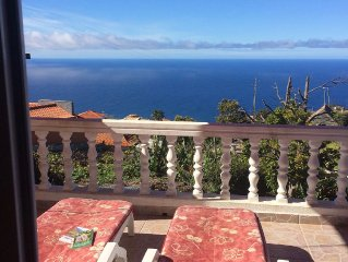 Beautiful 2 Bedroom Villa with Panoramic Sea and Mountain Views, Full Internet