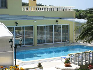 Fantastic private heated pool and stunning view from the terrace!!
