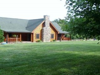 Stunning, GENUINE Log Cabin with Spectacular Panorama Views!