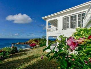Antigua's Best Oceanfront, Serene Beach Home