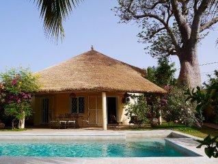 Villa indépendante avec piscine privée et jardin Proche plage et centre Saly