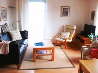 Family-friendly apartment close to the Baltic Sea, central, bicycles, garden, W