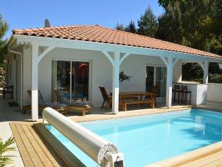Villa a 200m de la plage du lac nord et des pistes cyclables, proche golf.
