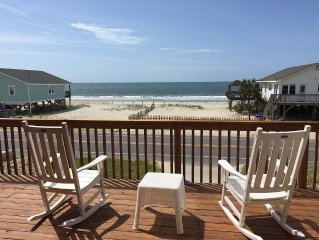 Excellent Views from this 2nd Row Home with Beach Access Yards Away