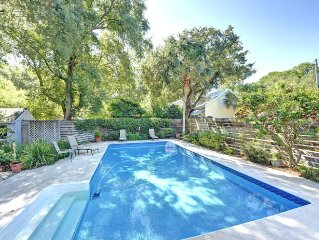 East Beach Cottage with Pool, Marsh View, Pet Friendly