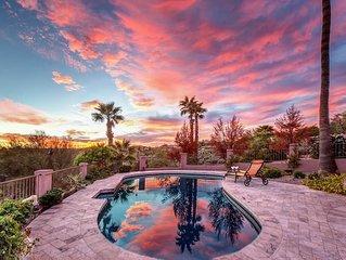 Fountain Hills Views- 2 master bdrms, heated pool, stunning city & mtn views!