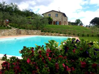 Casa Canonica ,Views To The Tiber River Vally Between Toscany And Rome