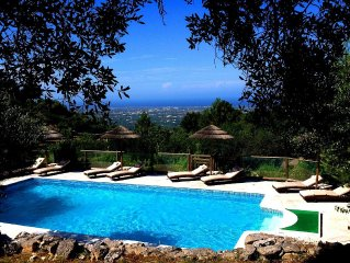 Secluded Large Family Villa with Private Pool & panoramic sea views.