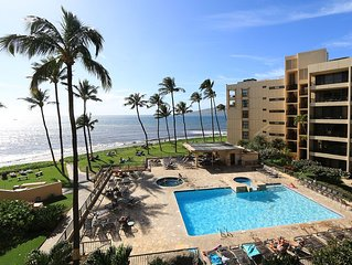 Summer Special! Beautifully remodeled Oceanfront condo on Sugar beach in Maui.