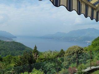 Sonnige Ferienwohnung in Vignone - ruhige Südlage mit Seeblick und Bergpanorama