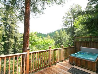 'Mystic Cottage'Soaring views,hot tub,Near River/Vineyards!