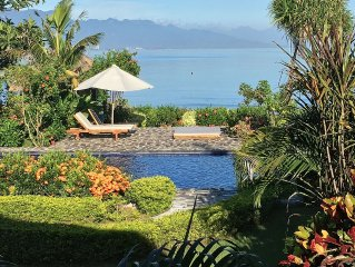 Beautiful 8 ps beachfront villa with private cook and private pool