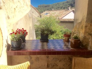 Charming Stone Village House  with a terrace in the centre of Medieval Lagrasse