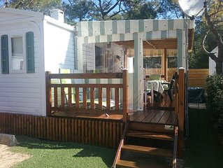Mobilhome 4 pers, terrasse couverte/fermée Camping**** Les jardins de l'Atlanti