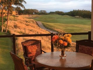 Uninterrupted Sunset, Ocean and Golf Course Views from our Lanai and Interior