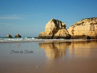 Praia da Rocha: PRAIA NA 1ªLINHA