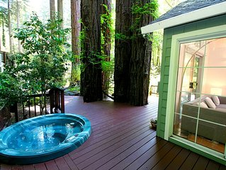 Creekside-Sanctuary + Cottage!Wine Country!Hot Tub!