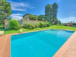 Unique stone-built villa in Castellina In Chianti with private pool and views