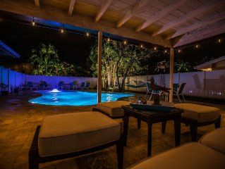 New, Steps to Ocean , Bikes,  Private Paradise w Heated Pool
