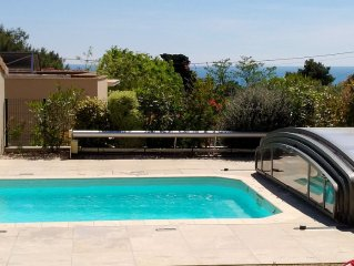 100 m2 with swimming pool and garden, at the foot of Mont St Clair in Sète Sout