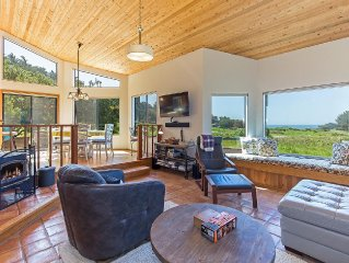 In Meadow, two bedroom, two bath private single-level home with partial ocean v