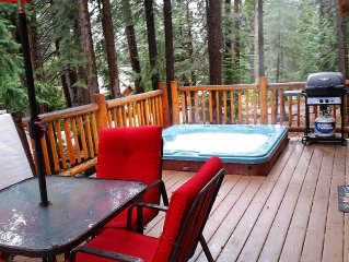 Private Hot Tub in the Pines! Cozy Cabin With Renovated Rooms,Shared Pier & Pool