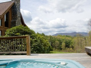 Blue Ridge Mountain Cabin - Mountain Views - Privacy - Hot Tub - Game Table