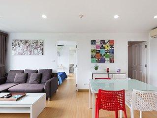 Grand appartement 2 Chambres S, vue sur les montagnes, piscine fitness