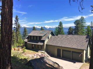 Mission Mountain-side Retreat for 8, Overlooking Seeley Lake!