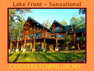 Cool, Handcrafted 5 Bedroom Lakefront Luxury Lodge, Groups, Families, Friends