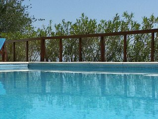 Kritou Terra Villa, Secluded Restored Farmhouse with Private Pool and Free Car