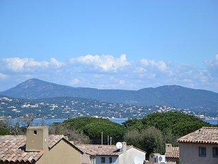 maison de charme d'esprit contemporain, plage et acces St Tropez a pied