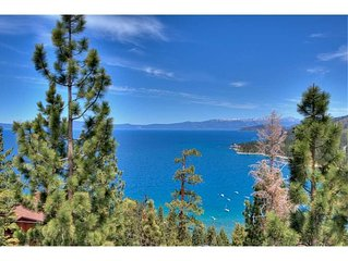 Handsome Zephyr Heights Home with Roof Top Deck Looking Over Lake Tahoe (ZH02)
