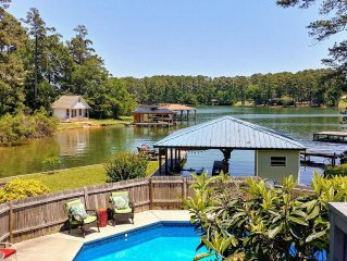 Sun & Fun! 7 Mins To Downtown, Large Deck, Lake, Pool, Fire Ring, Boat Slip. . .